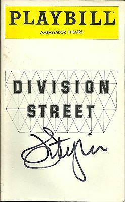 John Lithgow signed Division Street Playbill OPENING NIGHT