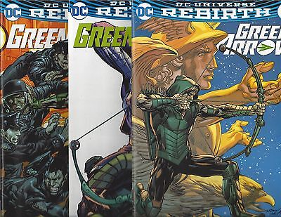 Dc Universe Rebirth Green Arrow #13 14 15 Neal Adams Variant Covers!