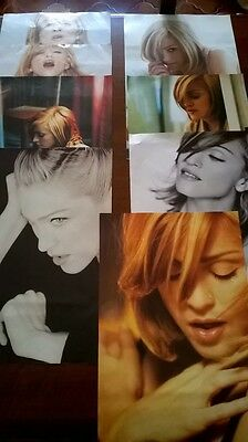 Madonna Set of 8 PROMO posters Something To Remember and GHV2 era Rebel Heart