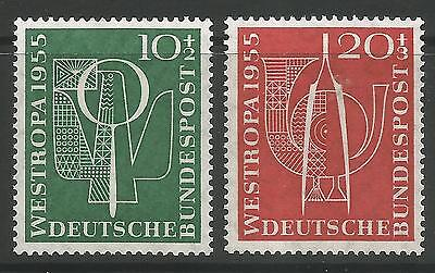 WEST GERMANY. 1955. Stamp Exhibition Set.  SG: 1143/44. Mint Never Hinged.