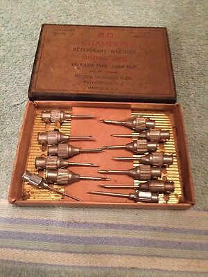 Old B-D Champion Veterinary needles, original box
