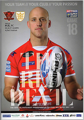 2017-Salford Red Devils V Hull Fc-9/6/17-Rugby Super League Programme