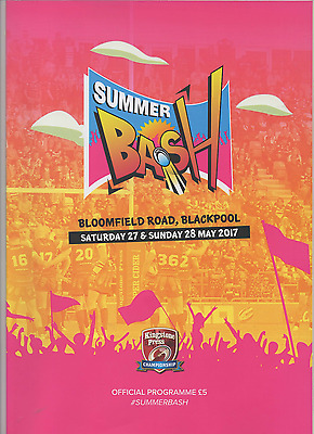 2017-Summer Bash-27-28/5/17 @blackpool-Rugby League Programme - Hull Kr-Bradford