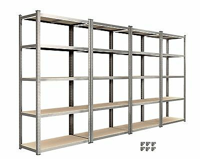 4 Bay Racking Shelving Unit Heavy Duty 5 Tier Shelf Steel