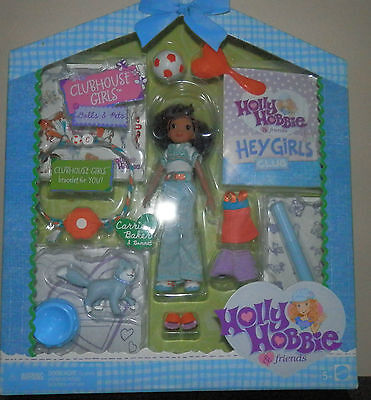RARE NRFB Mattel Holly Hobbie Clubhouse Figures  Carrie Baker and CAT bonnet