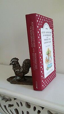 Vintage Book 'Alice in Wonderland & Through the Looking Glass' Cloth Bound 90s