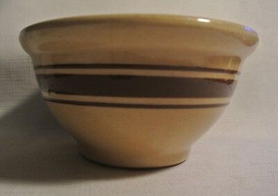 Yellow Ware Bowl / Brown Stripes by R.R.P.
