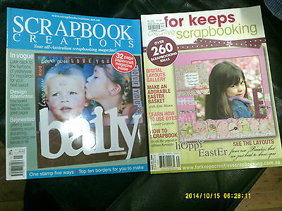 scrapbook creations/for keeps scrapbooking magazines as new