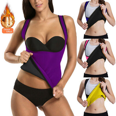 Hot US Sweat Sauna Body Shaper Women Slimming Vest Thermo Neoprene Waist Trainer