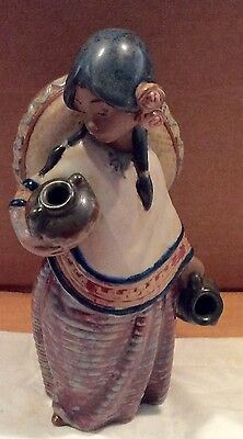 Retired LLADRO Spain Pepita w Hat Mexican Girl Gres 2140 Porcelain Figurine