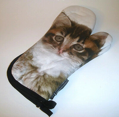 Pair of Kitten Cat Oven Mitts Humane Society of Canada 100% Cotton