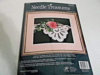 Needle Treasures Center Stage Red Roses Stamped Crewel Embroidery Kit 00679 New