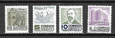 Mexico Sc#928-31 MNH Monuments & Men