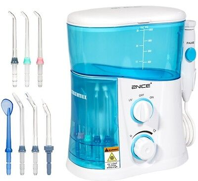 Oral Irrigator Water Flosser Dental Care 7 Multifunctional Tips Countertop UV