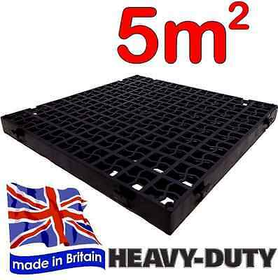 20 x Black Plastic Paving Driveway Grid Turf Grass Lawn Path Gravel Protector