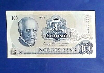 NORWAY: 1 x 10 Kroner Banknotes (1973) - Extremely Fine