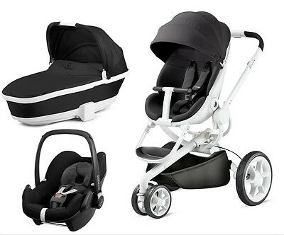 S A L E Quinny Moodd Pushchair  Black And White Frame Full Set New In Box