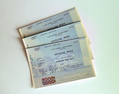 RARE DEPECHE MODE MEMORABILIA - Unused Ticket Stub(s) Wembley Arena 02/04/06