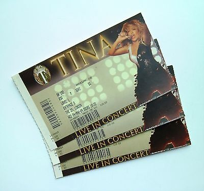 TINA TURNER MEMORABILIA - Tickets Stub(s) The O2 Arena London 04/03/09