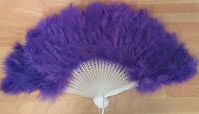 Ventaglio con piume viola - Fan with purple feathers