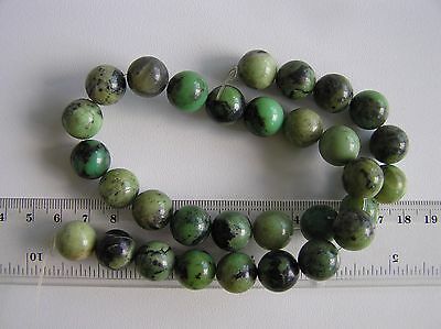 ¡Fantástica tira de Crisoprasa 12mm! GENUINE CHRYSOPRASE 12MM  BEADS STRAND AA++