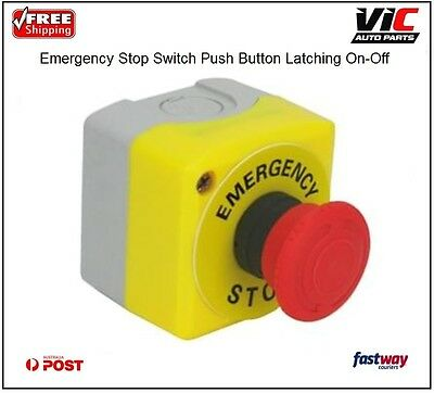 Emergency Stop Switch Push Button Latching On-Off