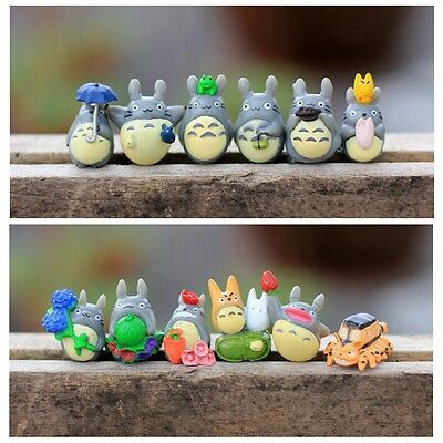 12pcs Hayao Miyazaki Japan Cartoon Lovely My Neighbor Totoro Figures Toy New US