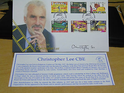 Qc Collection Gb Album 2008 Buckingham Covers Christopher Lee Signed Autographed