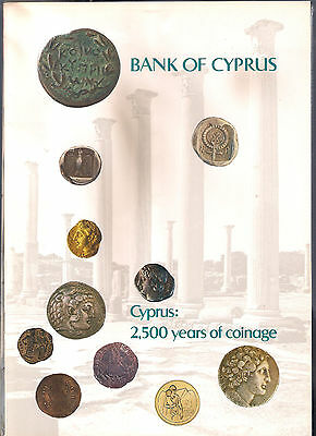 Cyprus Greece  2,500 Years Of Coinage Coins, Bank Of Cyprus Minτ Book