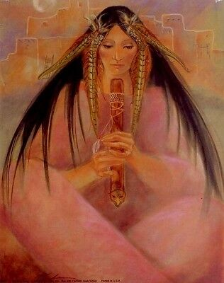 Morning Song: 16x20 In. Native American Art Poster