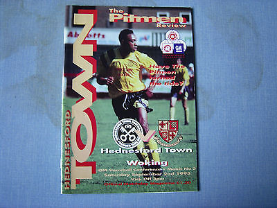 HEDNESFORD TOWN v WOKING Conference 1995-96 Hednesford 1st season in Conference