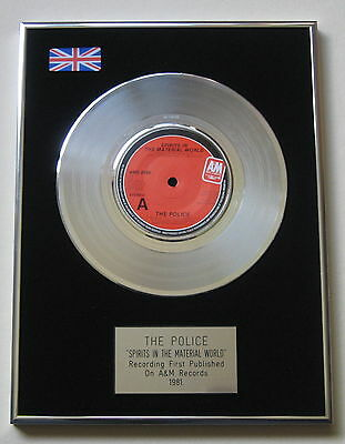 "THE POLICE Spirits In The Material World PLATINUM 7"" Single DISC Presentation"