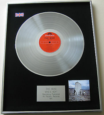 THE WHO Who's Next PLATINUM LP Disc Presentation