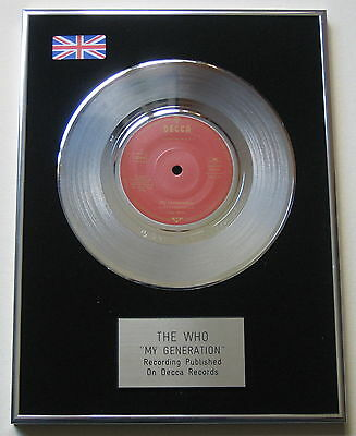 "THE WHO My Generation PLATINUM 7"" Single DISC Presentation"
