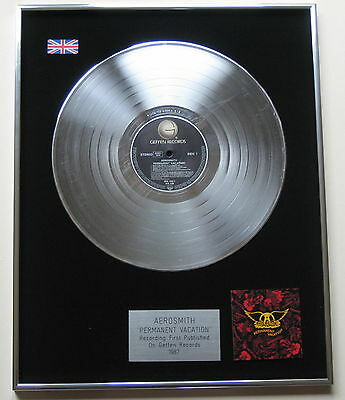 AEROSMITH Permanent Vacation PLATINUM LP Disc Presentation
