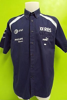 Williams F1 Team Issue Sponser Shortsleeve Shirt Mens Large