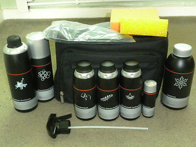 New Genuine Audi 10 Piece Car Care Valeting Cleaning Kit In Presentation Bag