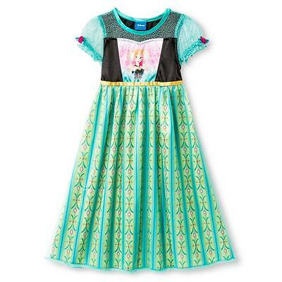 NWT Disney Girl's Frozen Anna Dress-up Nightgown 6, 8