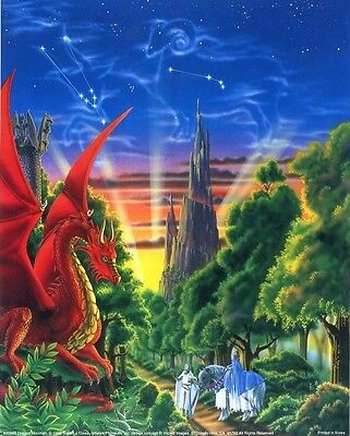 Dragon Mountain: 16x20 In. Fantasy Art Poster