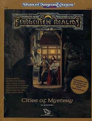 FR8 CITIES OF MYSTERY SEALED 9262 TSR AD&D Boxed Set Dungeons Dragons D&D Module