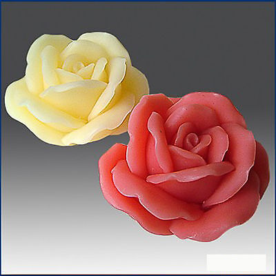 Silicone Soap/Plaster/Polymer clay Mold – 2D Blooming Rose