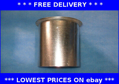 Top insert sleeve, flexible chimney flue liner, ducting, register plate, stove