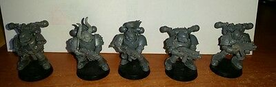 5 Chaos Space Marines Warhammer 40k A