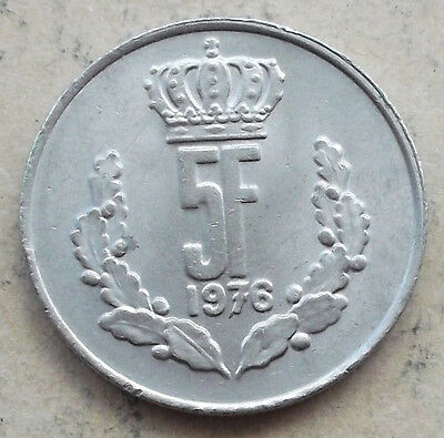 LUXEMBOURG 5 Francs coin * 1976 * KM#56 (13K232)
