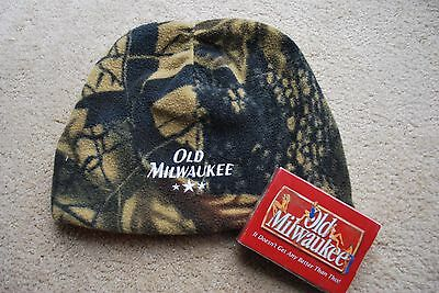 Old Milwaukee Camo Toque And Playing Cards Both New / Cards Sealed