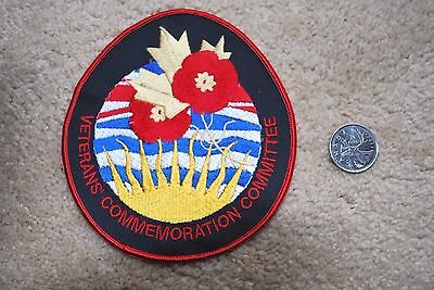 Veterans Commemoration Committee Patch Badge British Columbia . 4 1/2 X 5 Inch