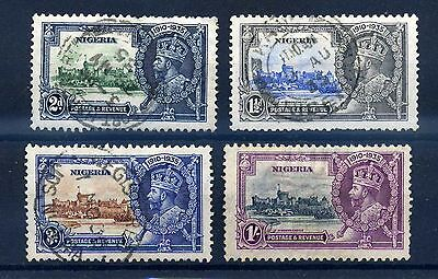 Nigeria 1935 silver jubilee set used. difficult