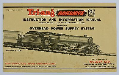 TRIANG MOLDEX 1950s 1st EDITION INSTRUCTION MANUAL ADELAIDE AUSTRALIA EXCELLENT