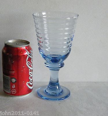Large Blue Glass Goblet 17.5 cm