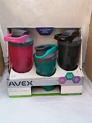 Avex 3x Shake and Go Fit Smoothie Juice Bottle Shaker Mixer Protein Flask